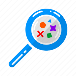 benchmark, creative process, google, magnifying glass, references, results, search icon
