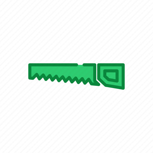 filled, line, saw, set, tool, work icon