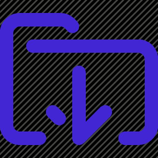 arrow, cloud, document, down, download, folder icon