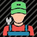avatar, labor, mechanic, repair icon