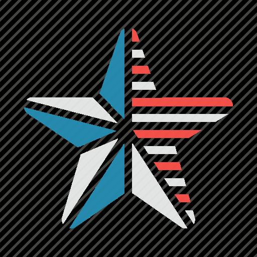 flag, star, stripes, usa icon