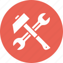 hammer, labor, mechanic, spanner icon