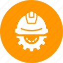 construction, day, gear, helmet, labor, labour, setting icon