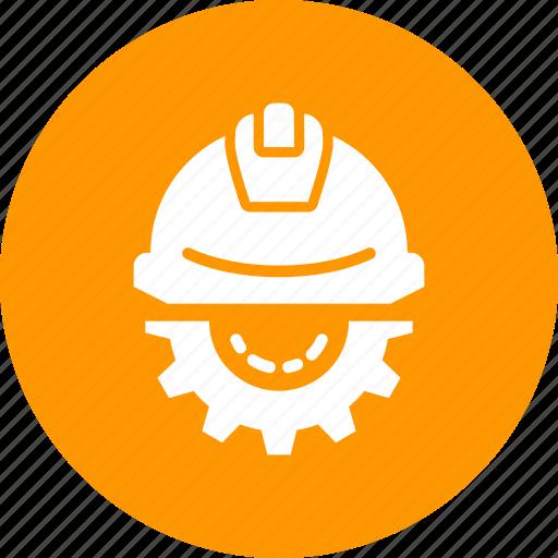 construction, day, gear, helmet, labor, labour, setting icon