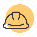 building, construction, helmet, safety icon