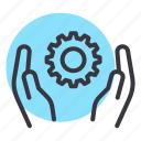 care, community, settings, support icon
