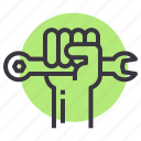 labor, rights, spanner, unity icon