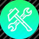 hammer, mechanic, repair, spanner icon