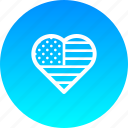 america, american, flag, heart, star, stripes, usa icon