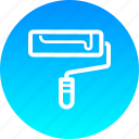 brush, color, labor, paint, painting, roller, tool icon
