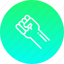 fight, fist, hand, punch, rights, strength, unity icon