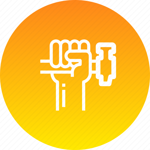 hammer, hand, rights, strength icon