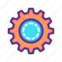 cog, day, gear, labor, labour, settings icon
