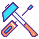 hammer, labor, repair, tools icon