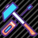 hammer, labor, repair, tools