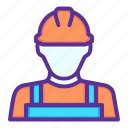 construction, labor, mechanic, worker icon