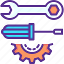 cog, gear, labor, labour, mechanic, repair, spanner icon