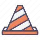 at, cone, construction, labor, labour, men, work icon
