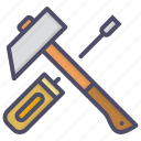 hammer, mechanic, screwdriver, tools icon