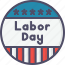 badge, day, labor, labour, may, worker icon