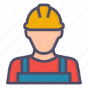 avatar, construction, labor, mechanic icon