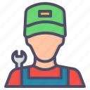 avatar, character, labor, mechanic icon