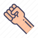fist, punch, rights, strength icon