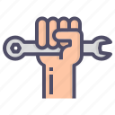 labor, rights, strength, unity icon