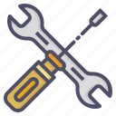 mechanic, repair, screwdriver, spanner icon