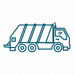 garbage, transport, trash, truck icon