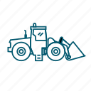 dig, earthworks, ground, road, shovel, work icon