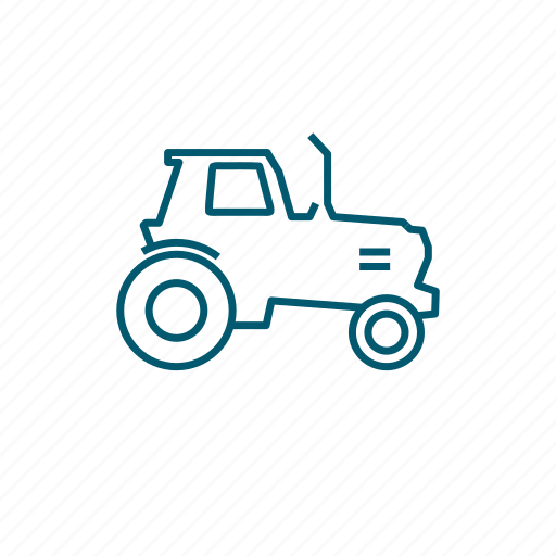 agriculture, farmer, tractor, transport, vehicle icon