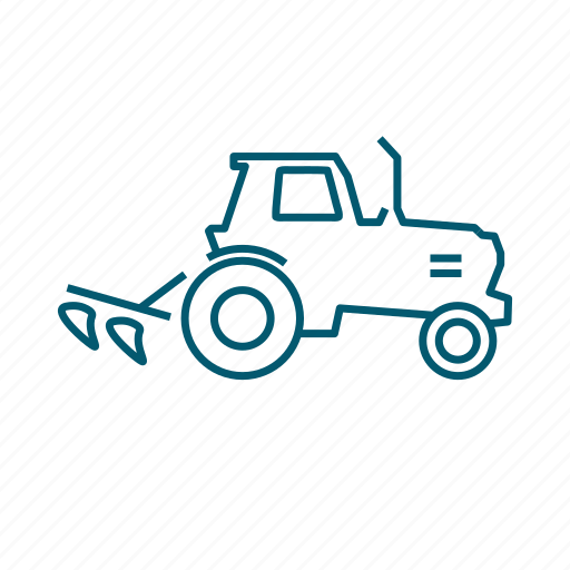 agriculture, green, plant, plow, tractor icon