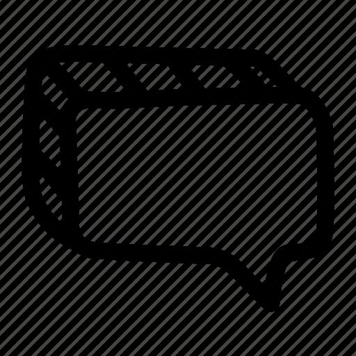 bubble, chat, comment, dialogue, message, speech icon