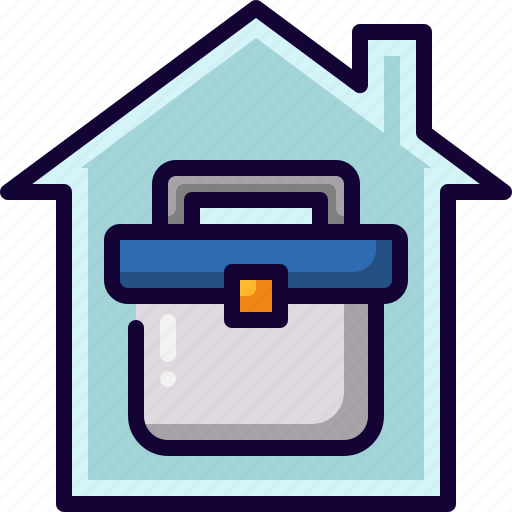 Bag, Job, Office, Working At Home Icon