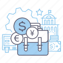 benefit, business, diversification, money icon