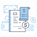 payroll, invoice, bill, receipt icon