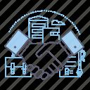 contract, cooperation, handshake, partnership icon