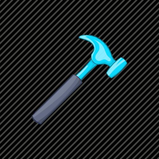 carpentry, cartoon, construction, hammer, sign, tool, work icon