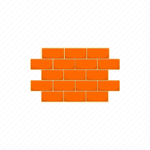 block, bricks, cartoon, sign, stone, texture, wall icon