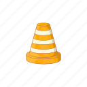 alert, cartoon, construction, repair, road, security, sign icon
