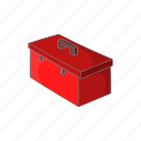 cartoon, construction, container, repair, sign, suitcase, tool icon