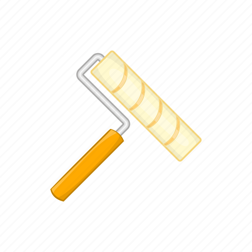 brush, cartoon, paint, painter, repair, roller, sign icon