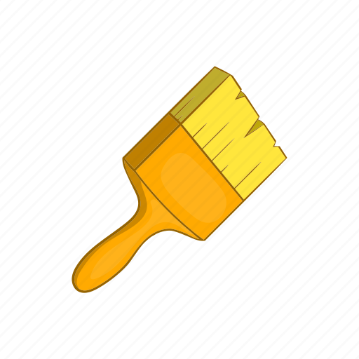 brush, cartoon, equipment, paint, repair, sign, trowel icon