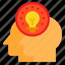 creative, head, idea, innovation, mind, think