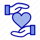 favorite, give, hand, heart, love icon