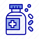 bottle, medicine, tablet icon