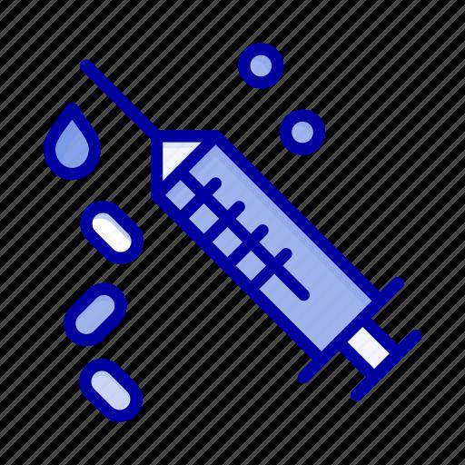 injection, syringe, treatment, vaccine icon