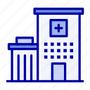 building, clinic, hospital, medical icon