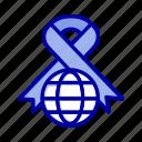 care, globe, ribbon, world icon